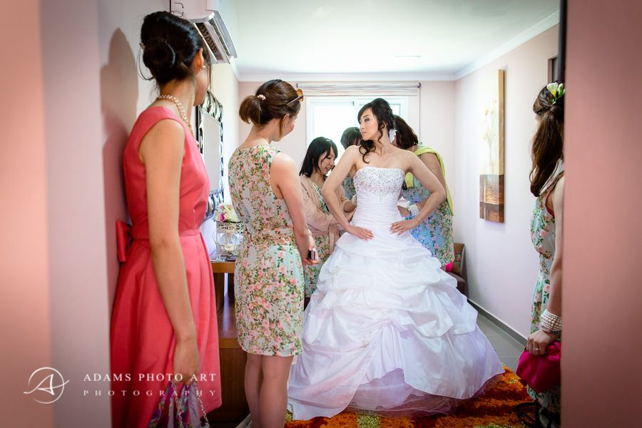 Bride getting ready in her room, Destination Wedding Portugal