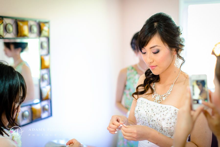 bride mary prepars for the wedding ceremony