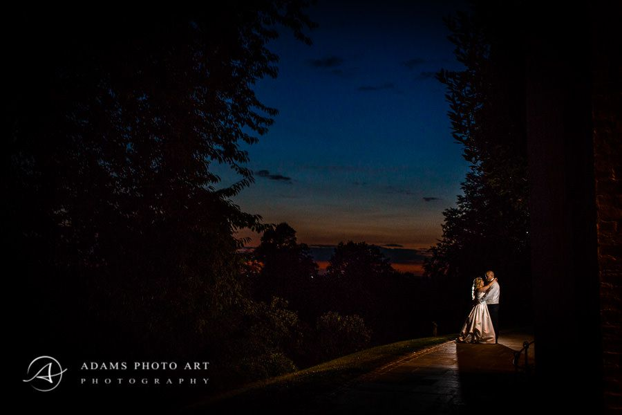 romantic wedding photo session at night
