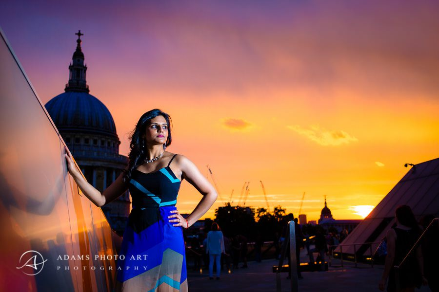 london engagement veena and the sunset