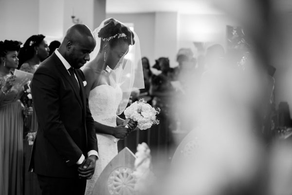 Addington Palace wedding ceremony in the church