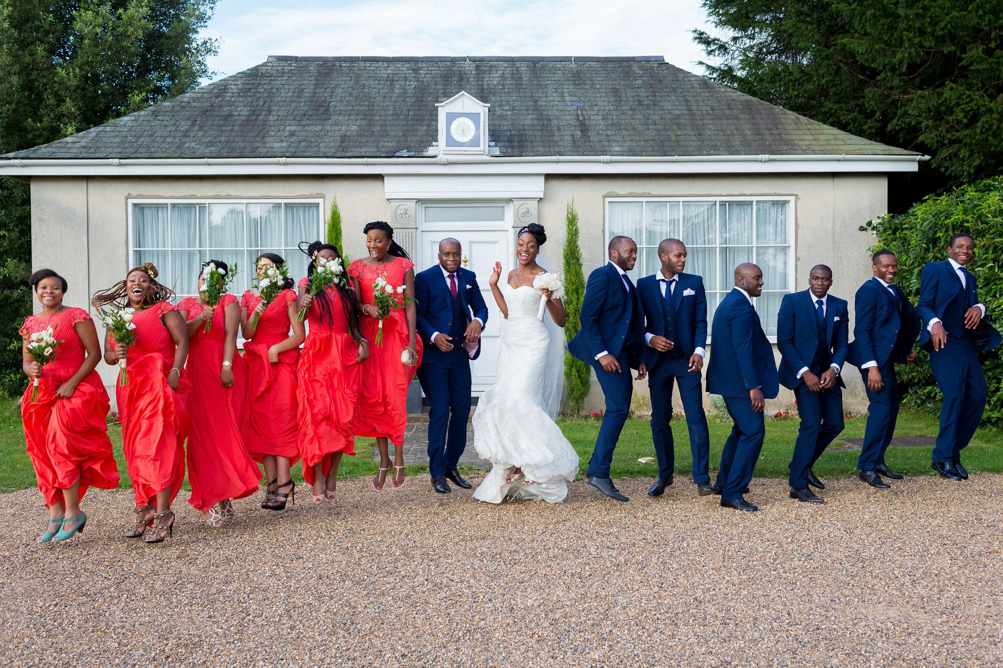 Addington Palace wedding group photo