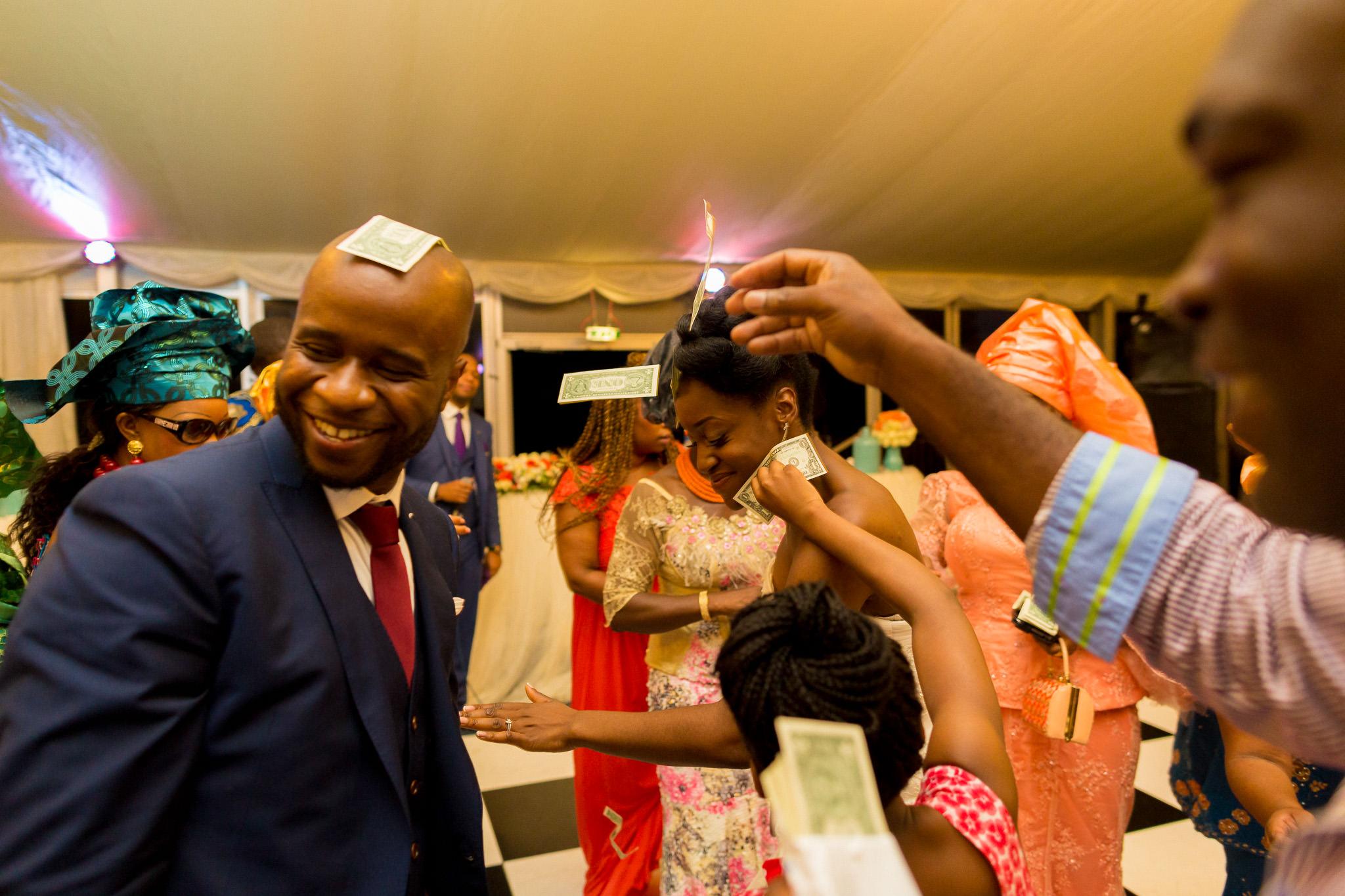 Addington Palace wedding money dance groom