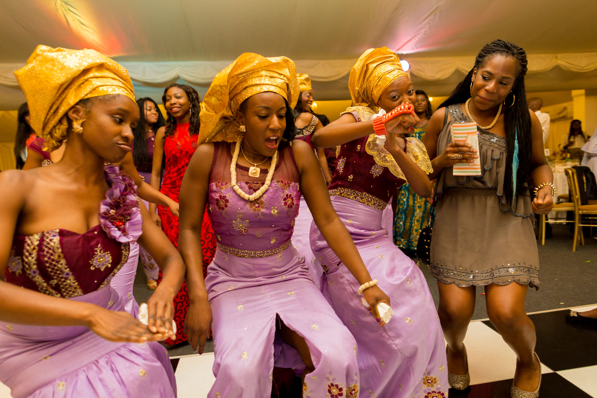 Addington Palace wedding woman dance