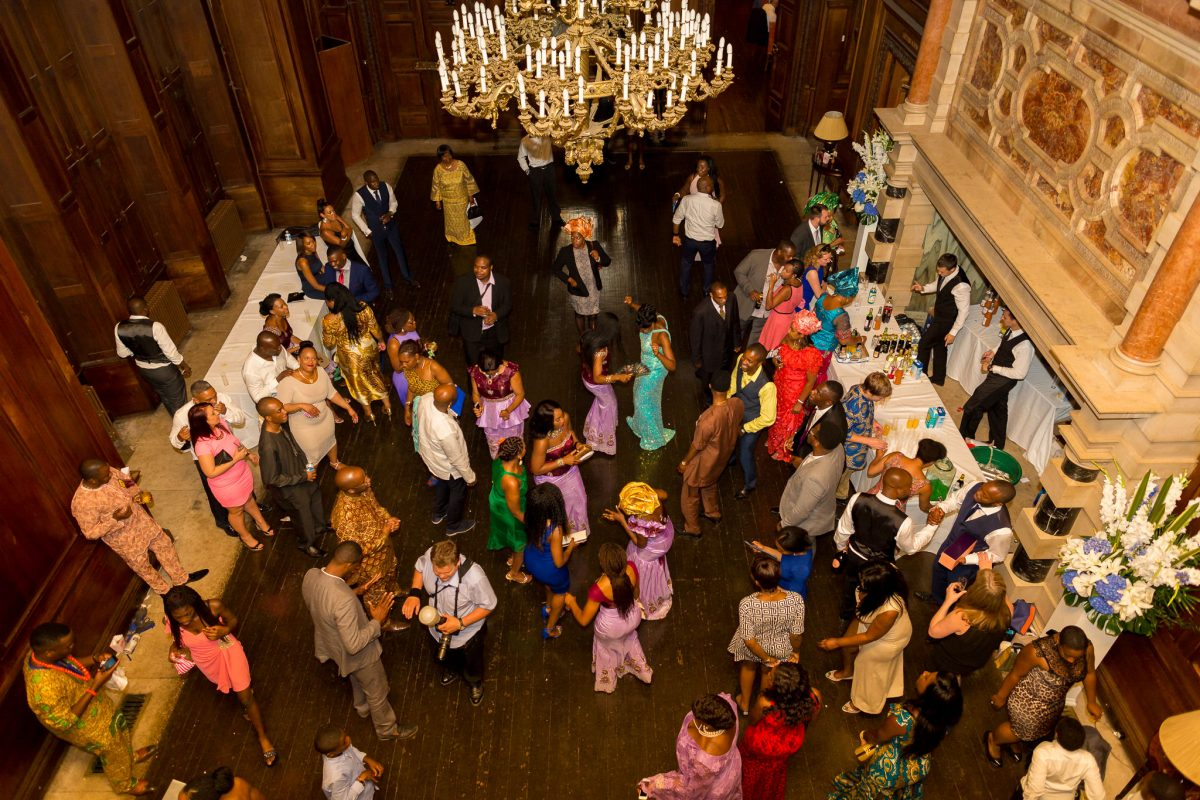 Addington Palace wedding dance florr view from above