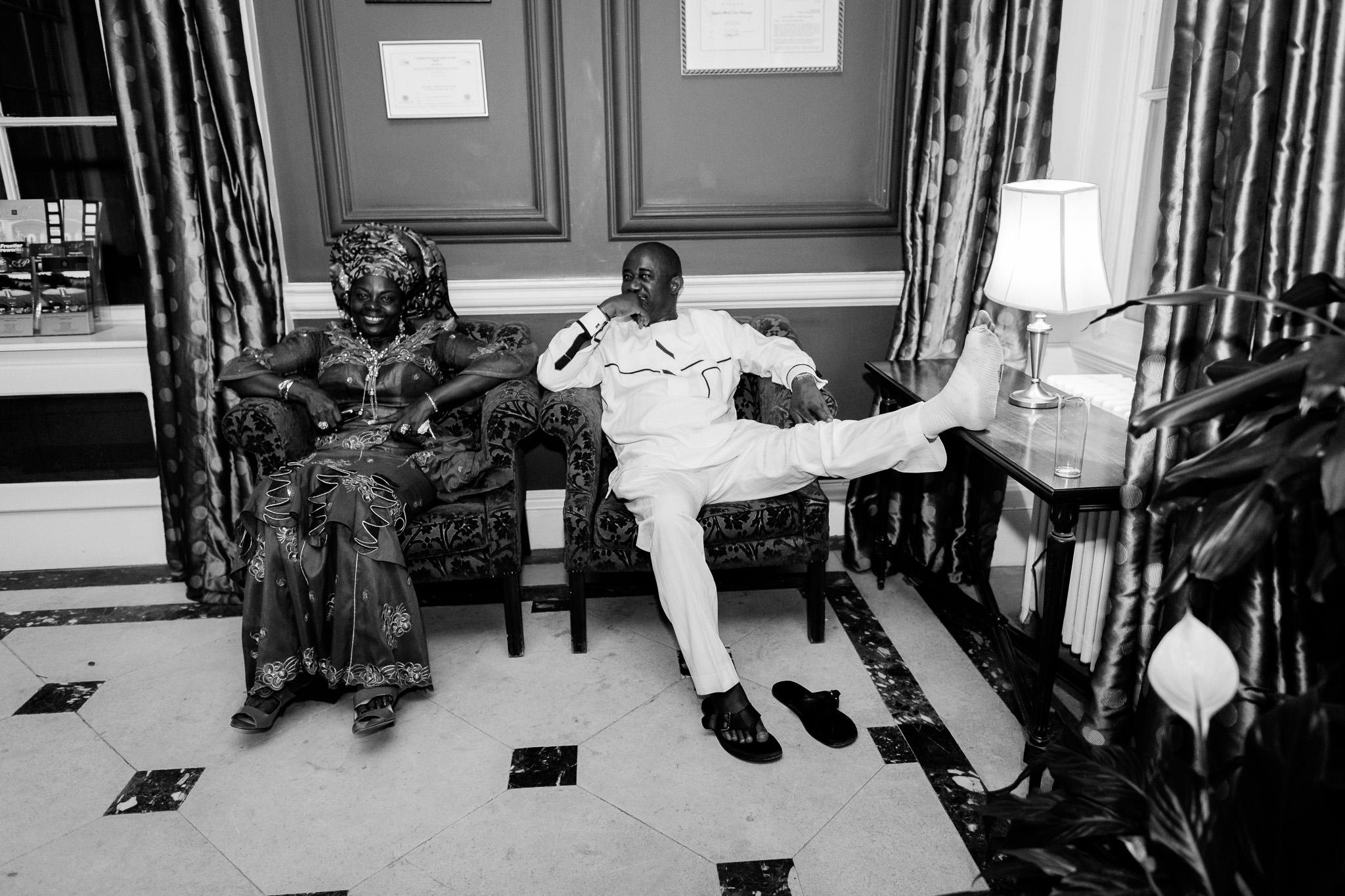 Addington Palace wedding guests relaxing