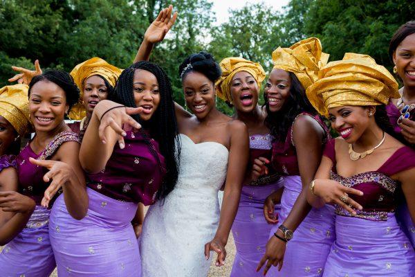 Addington Palace wedding nigerian women dancing