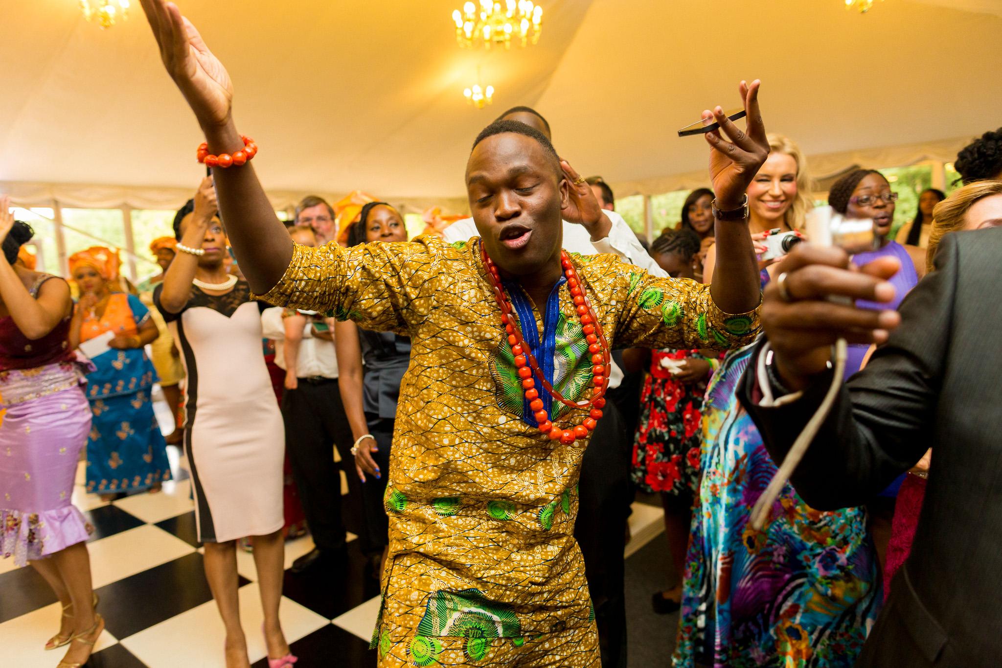 Addington Palace wedding party