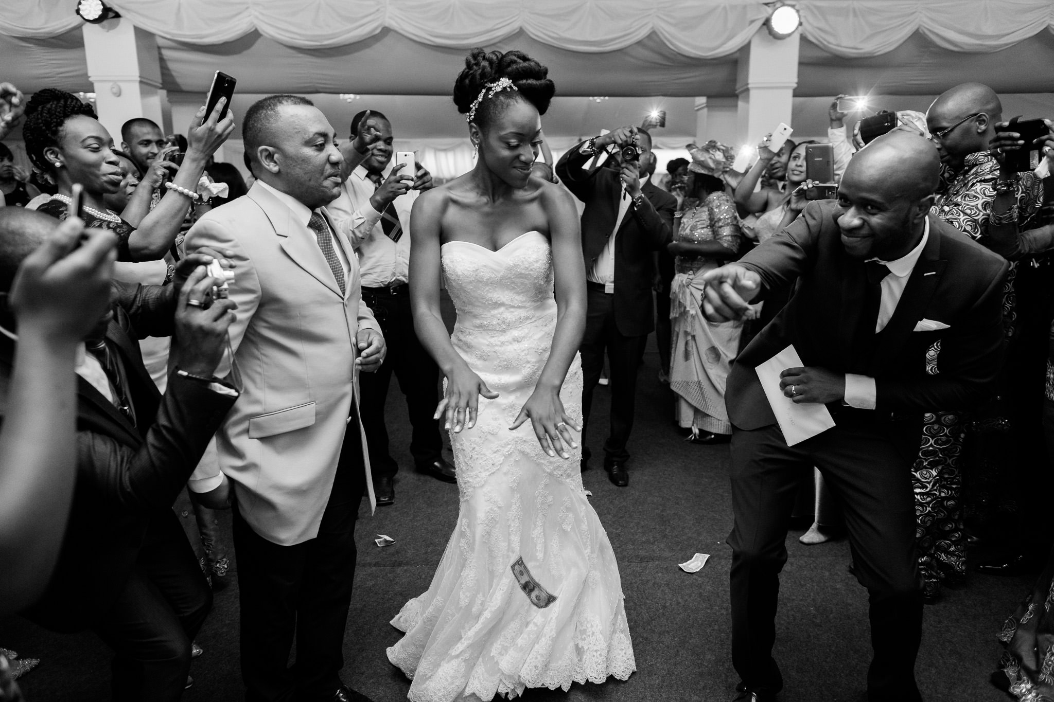 Addington Palace wedding bride dancing