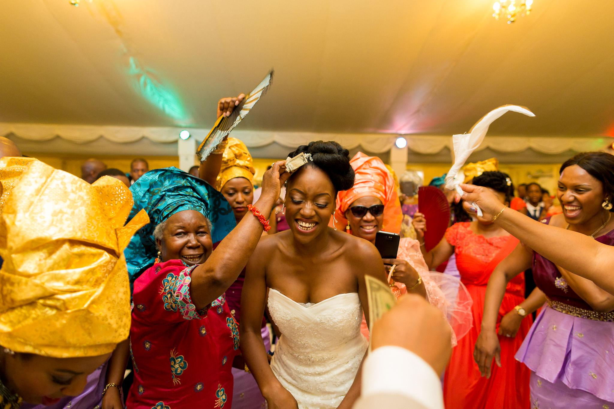 Addington Palace wedding money dance bride