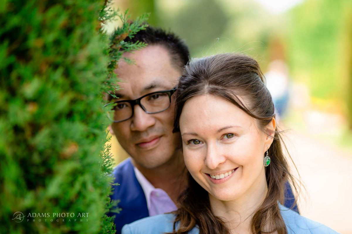 engagement photography in the garden london