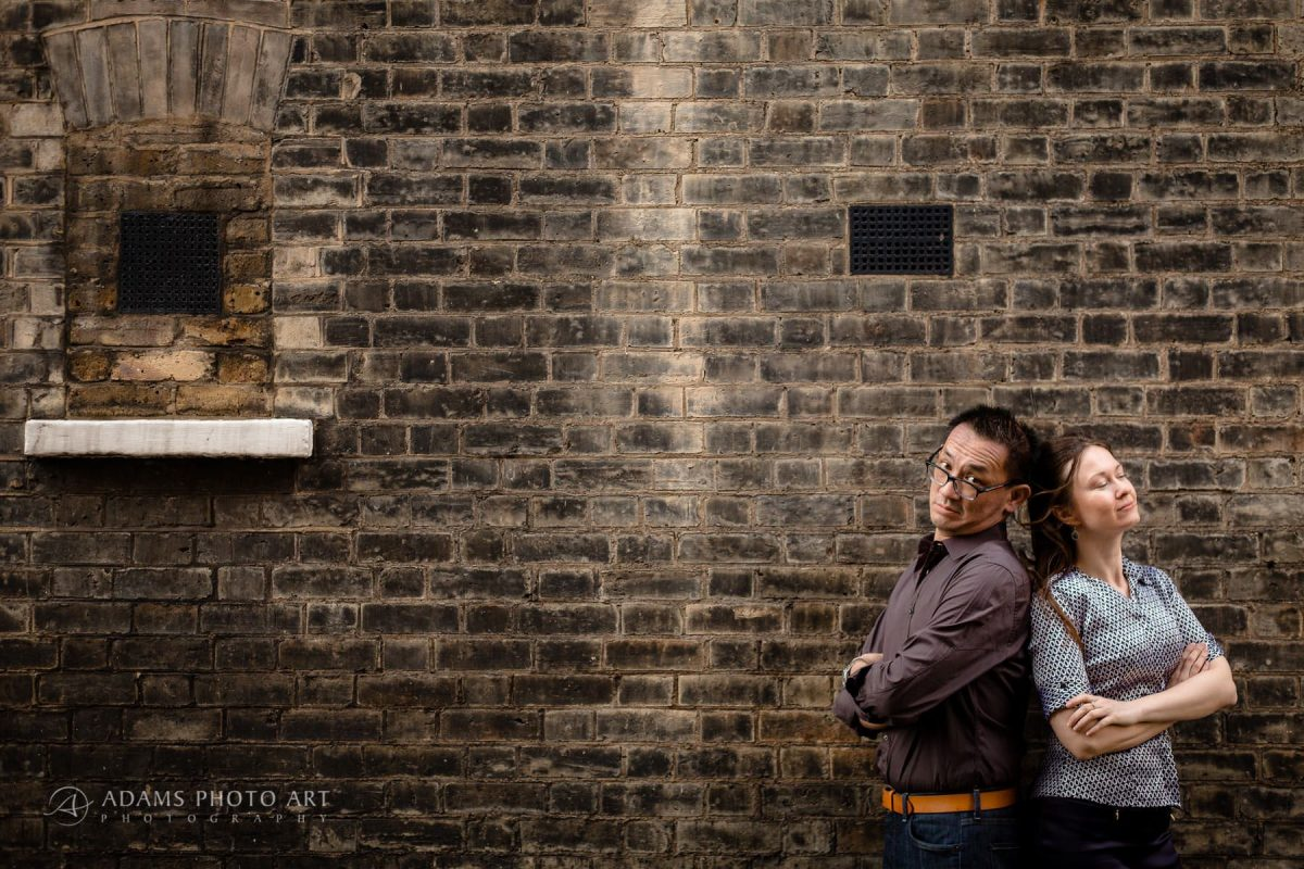london engagement photography of magda and michael