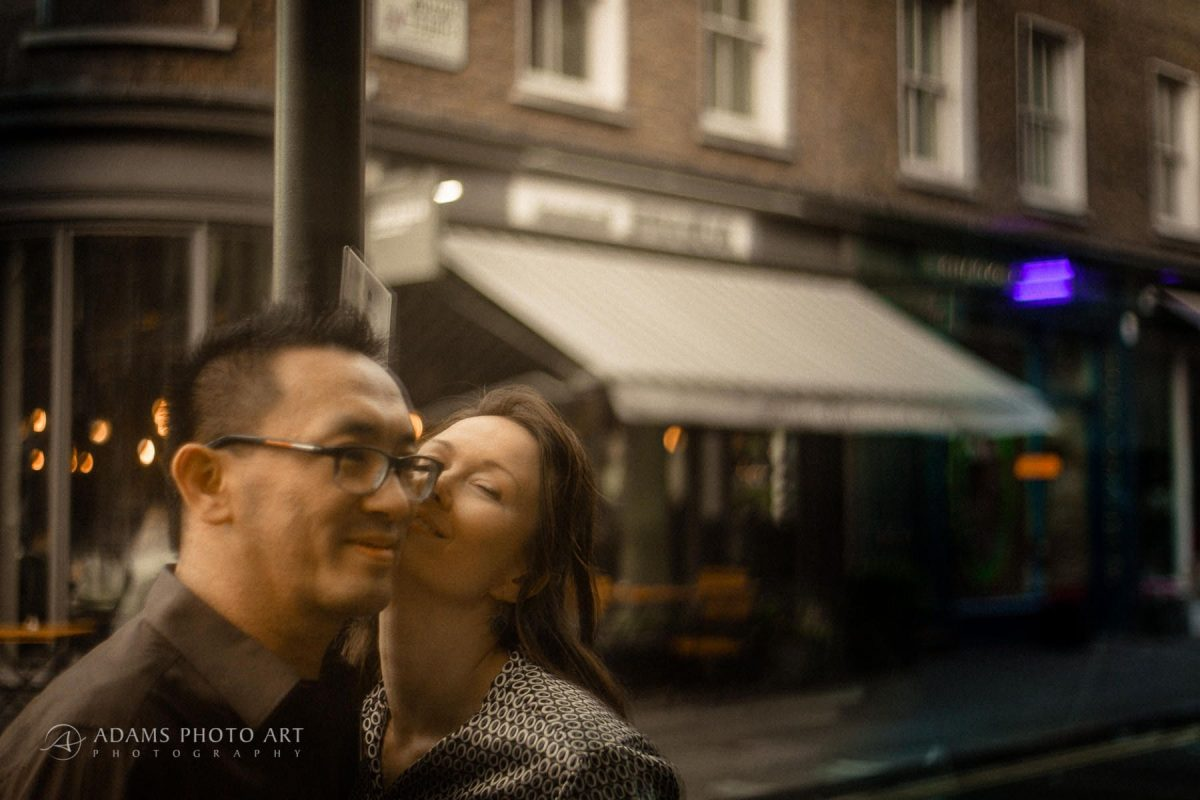 engagement photography of the young couple from london