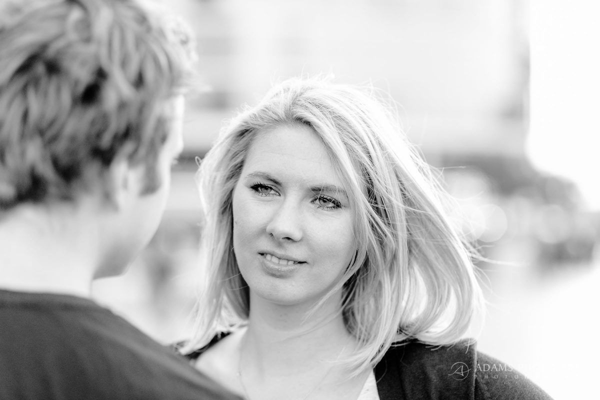 photography of engaged couple in london