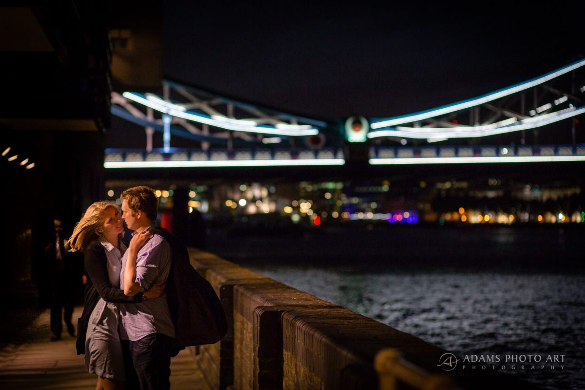london engaged couple