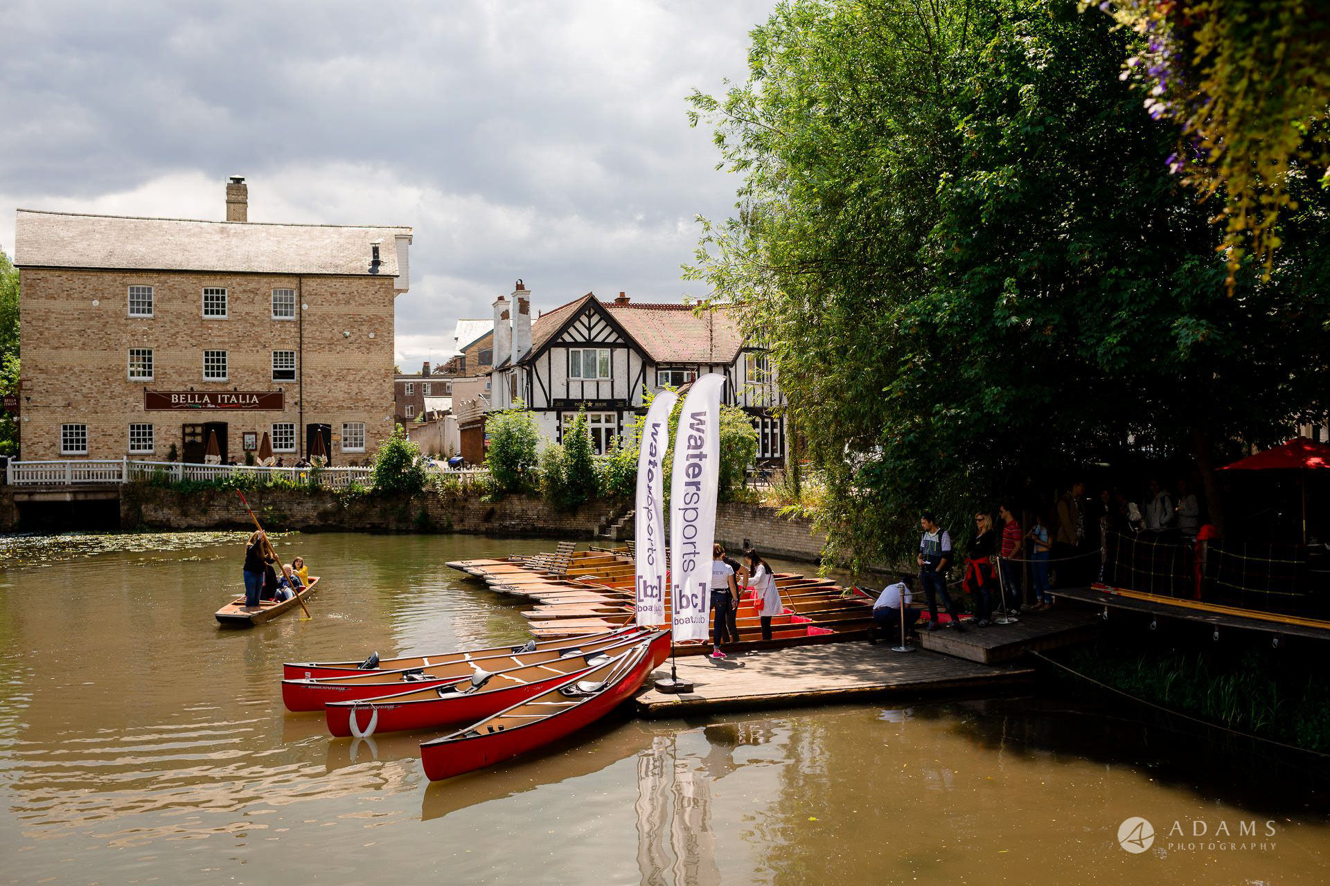 Clare College wedding canal boats