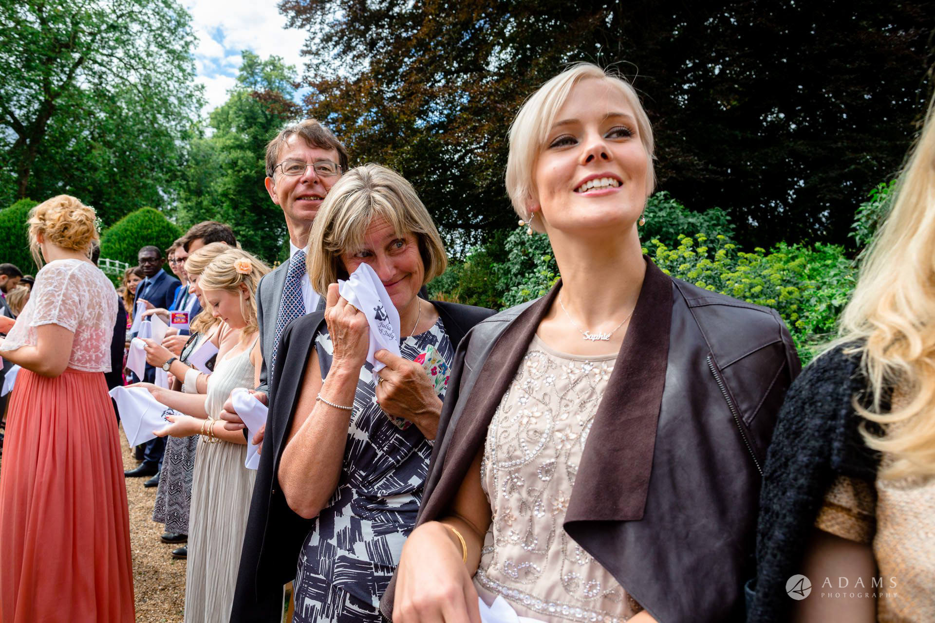 Clare College wedding guests crying