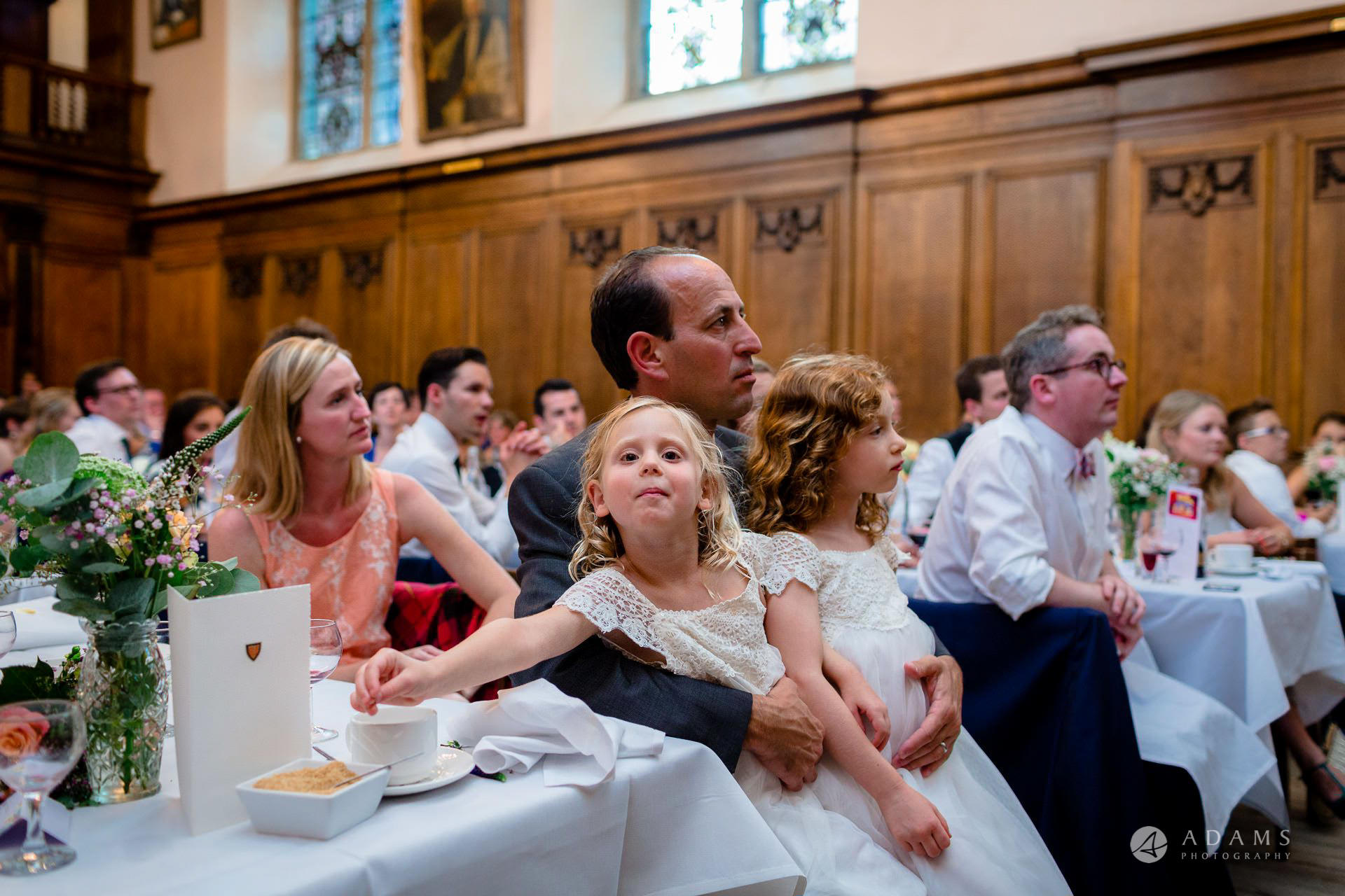 Clare College wedding ids playing