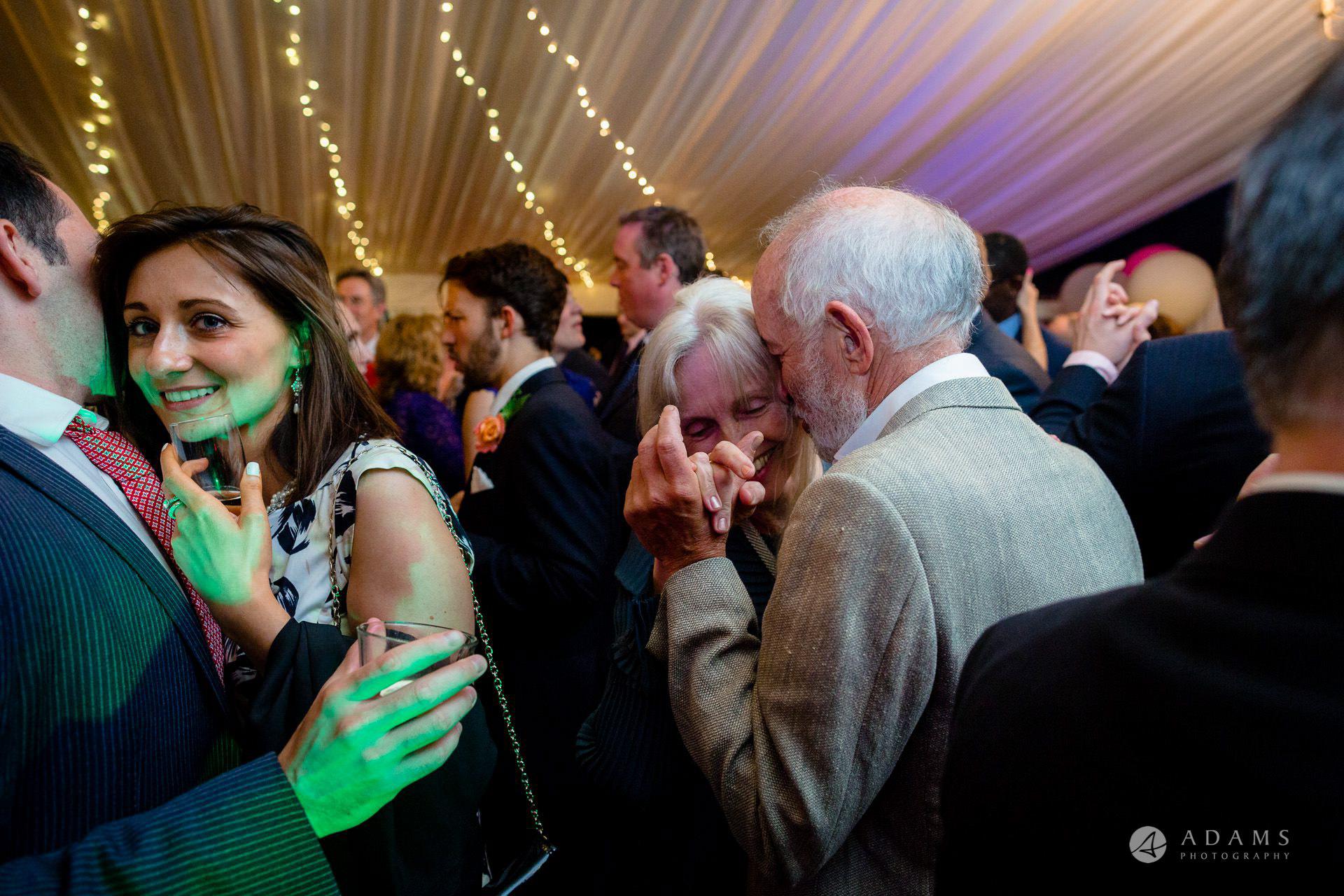 Clare College wedding guests dancing
