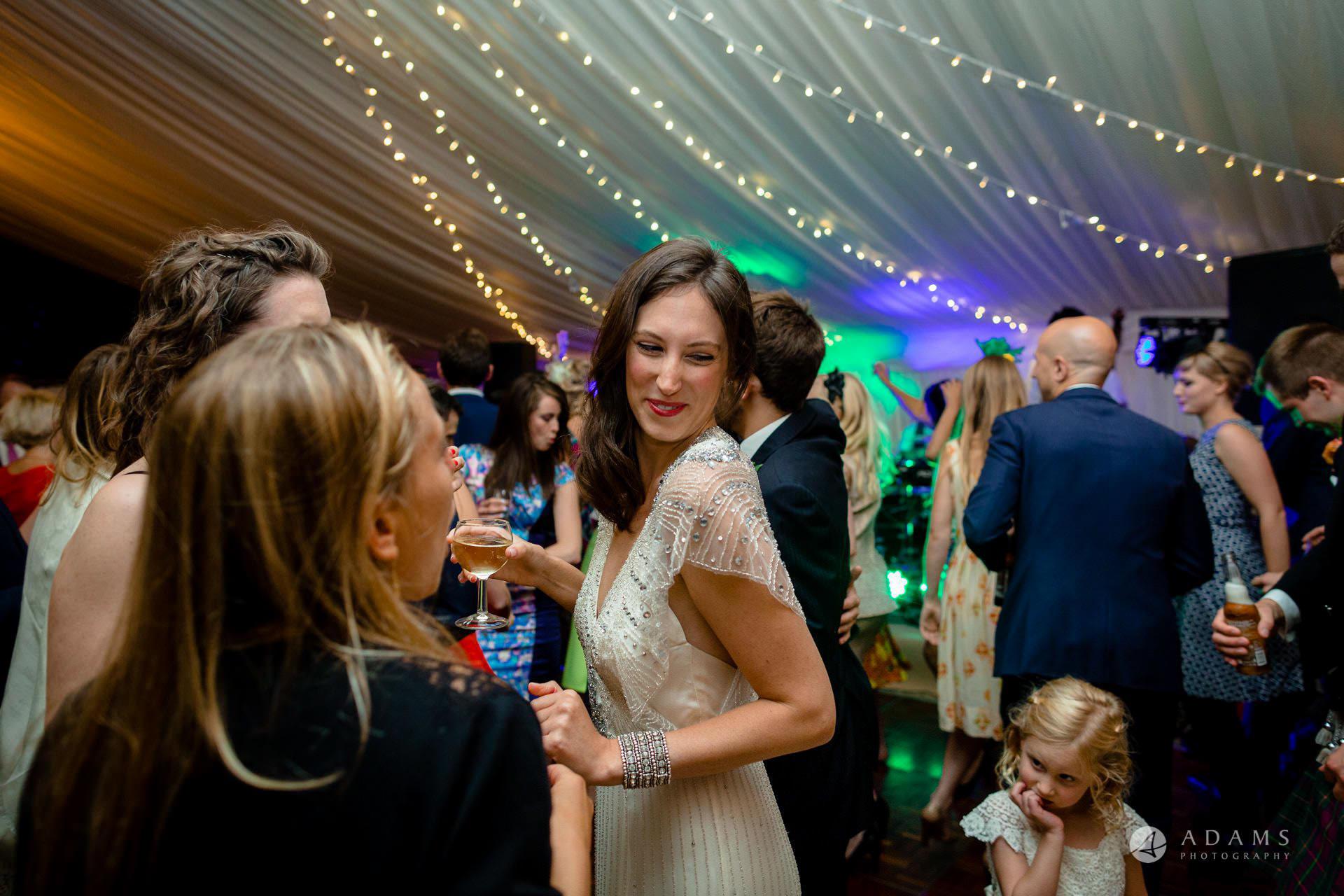 Clare College wedding bride dances