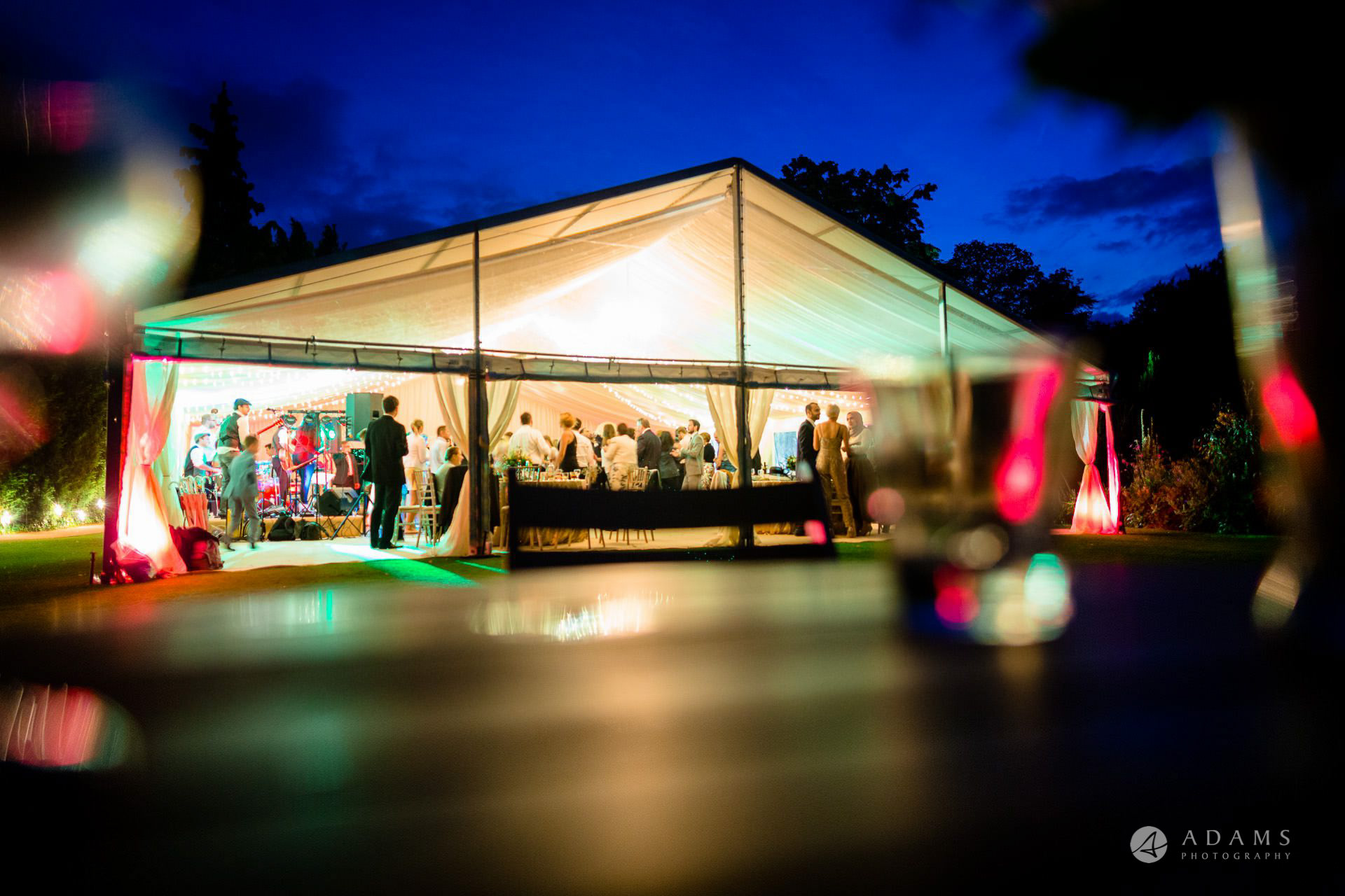 Clare College wedding marquee
