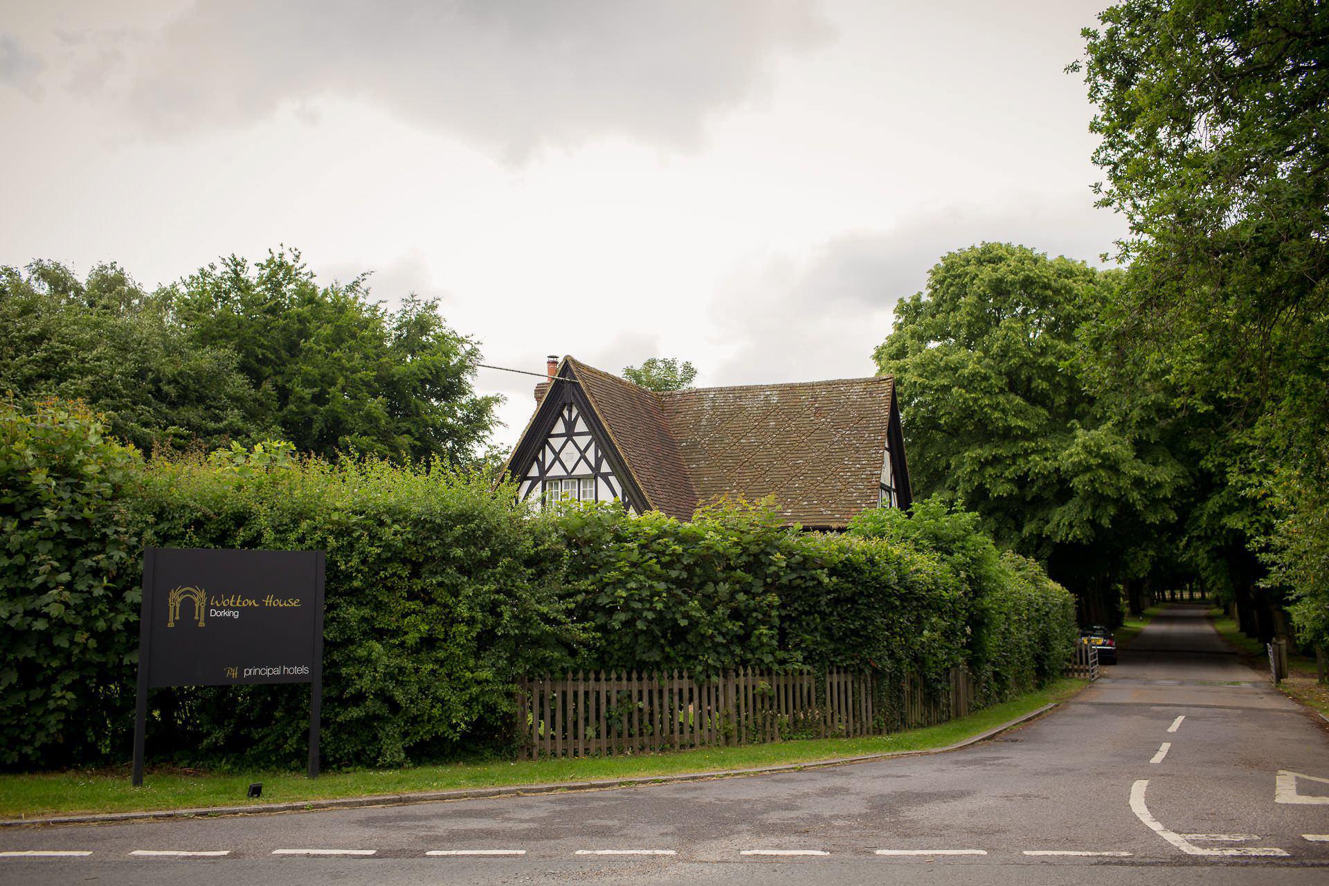 Wotton House wedding entrance