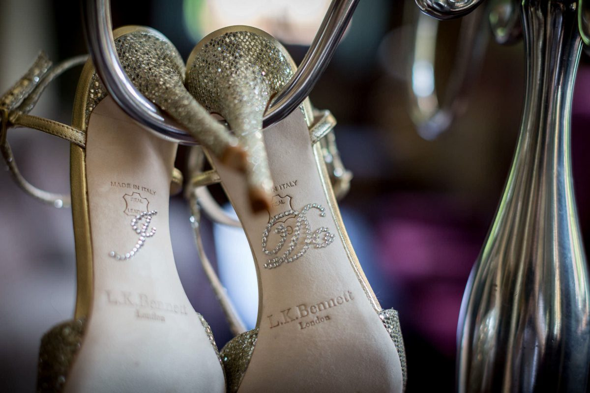 Wotton House wedding shoes
