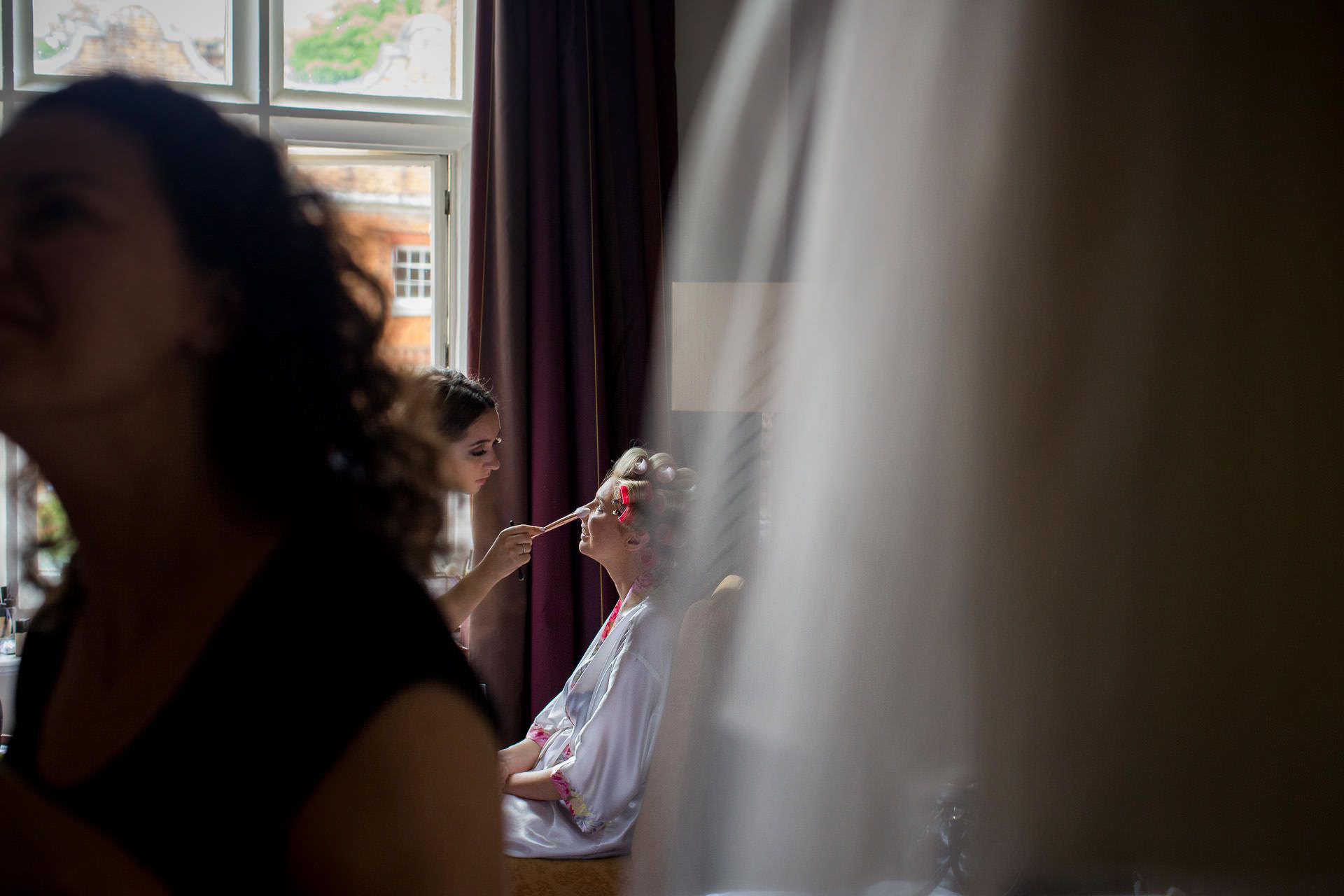Wotton House wedding bride hair