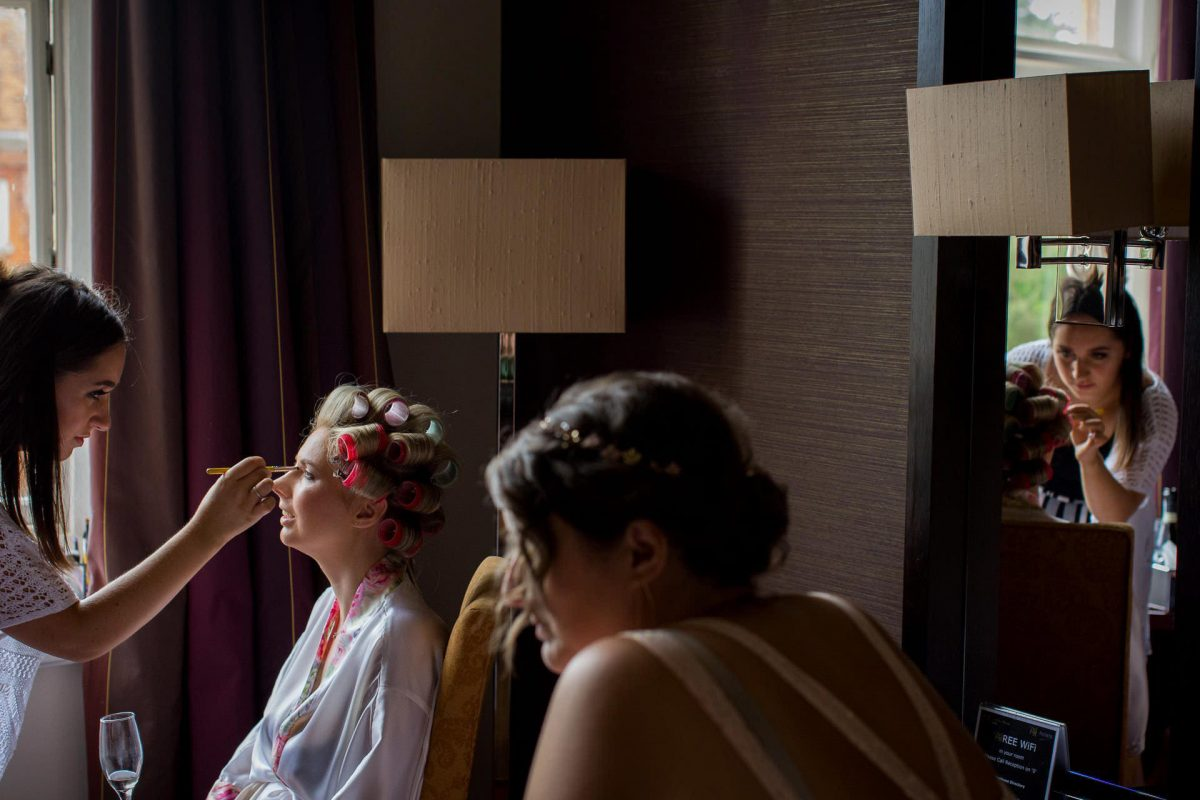 Wotton House wedding bride and bridesmaids getting ready
