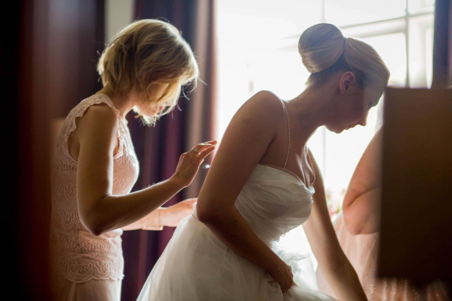 Wotton House wedding bride in the dress