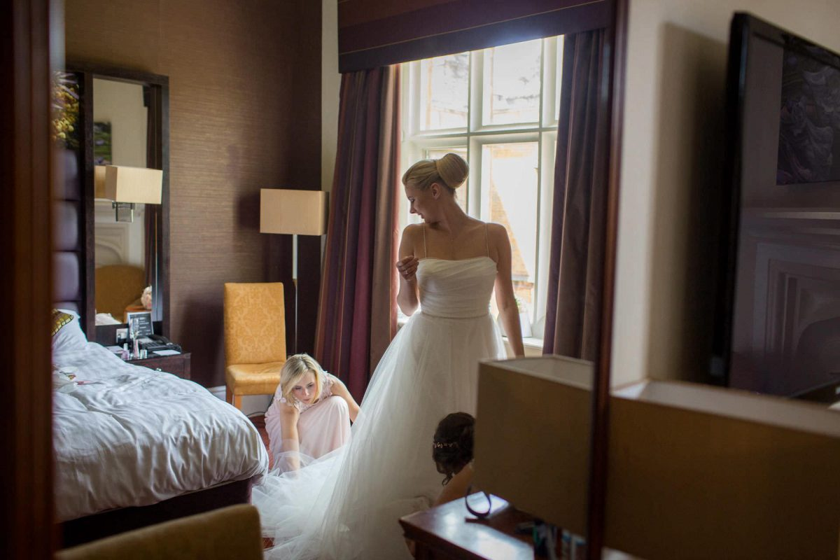 Wotton House wedding bride int he dress