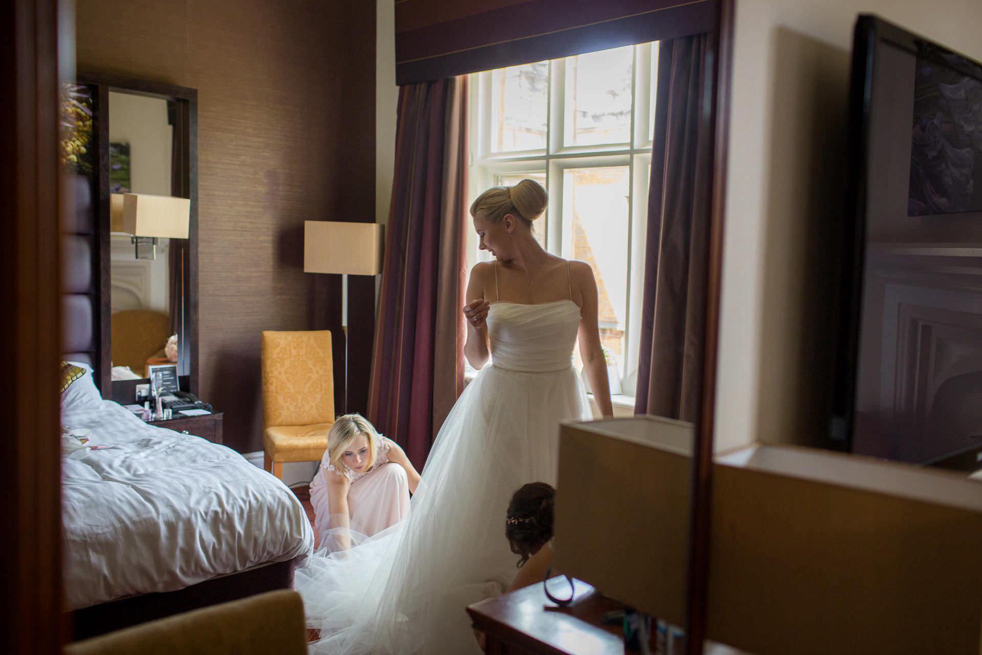 Wotton House wedding bride int he dress