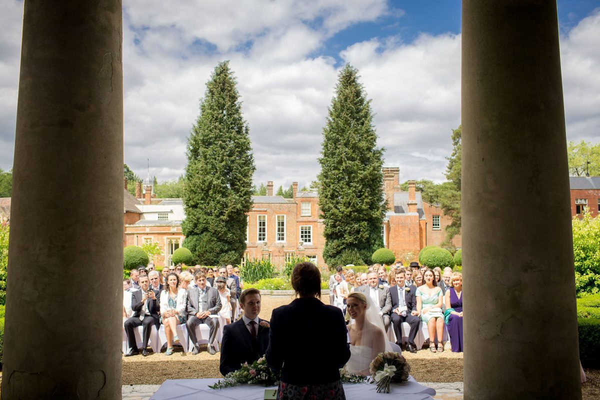 Wotton House wedding view of the ceremony