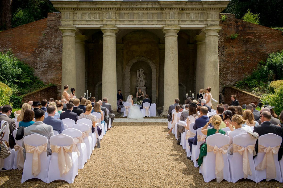 Wotton House wedding ceremony outdoors