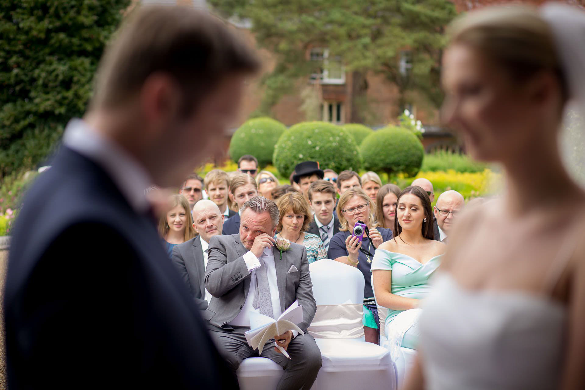 Wotton House wedding father of the groom cries