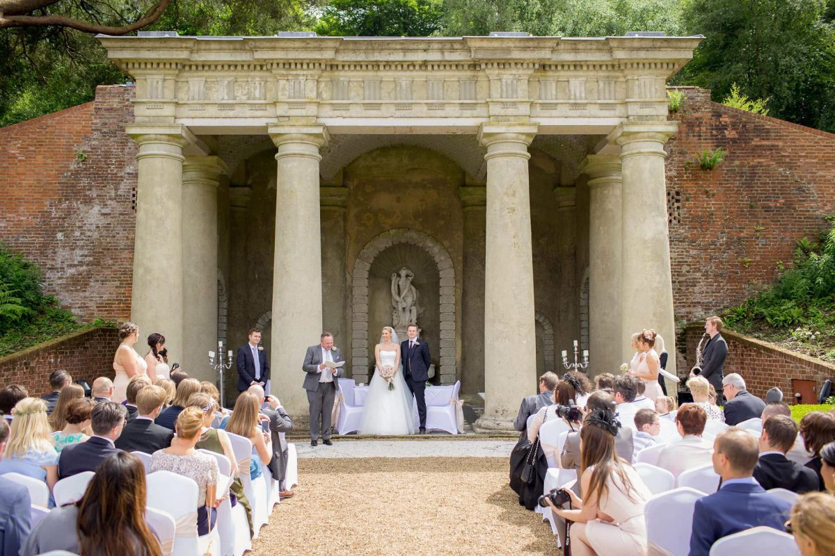 Wotton House wedding ceremony from the back