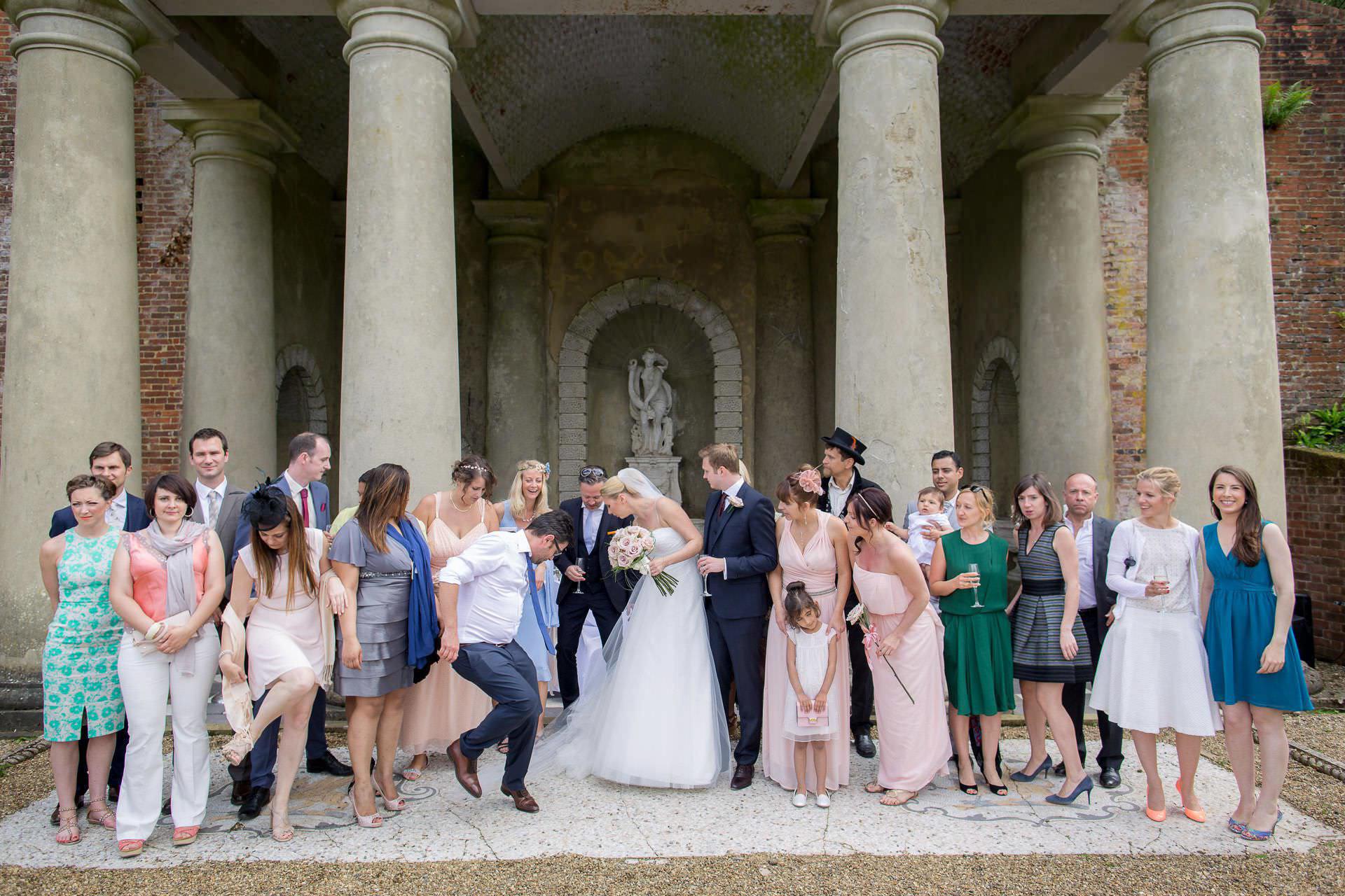 Wotton House wedding group family photo