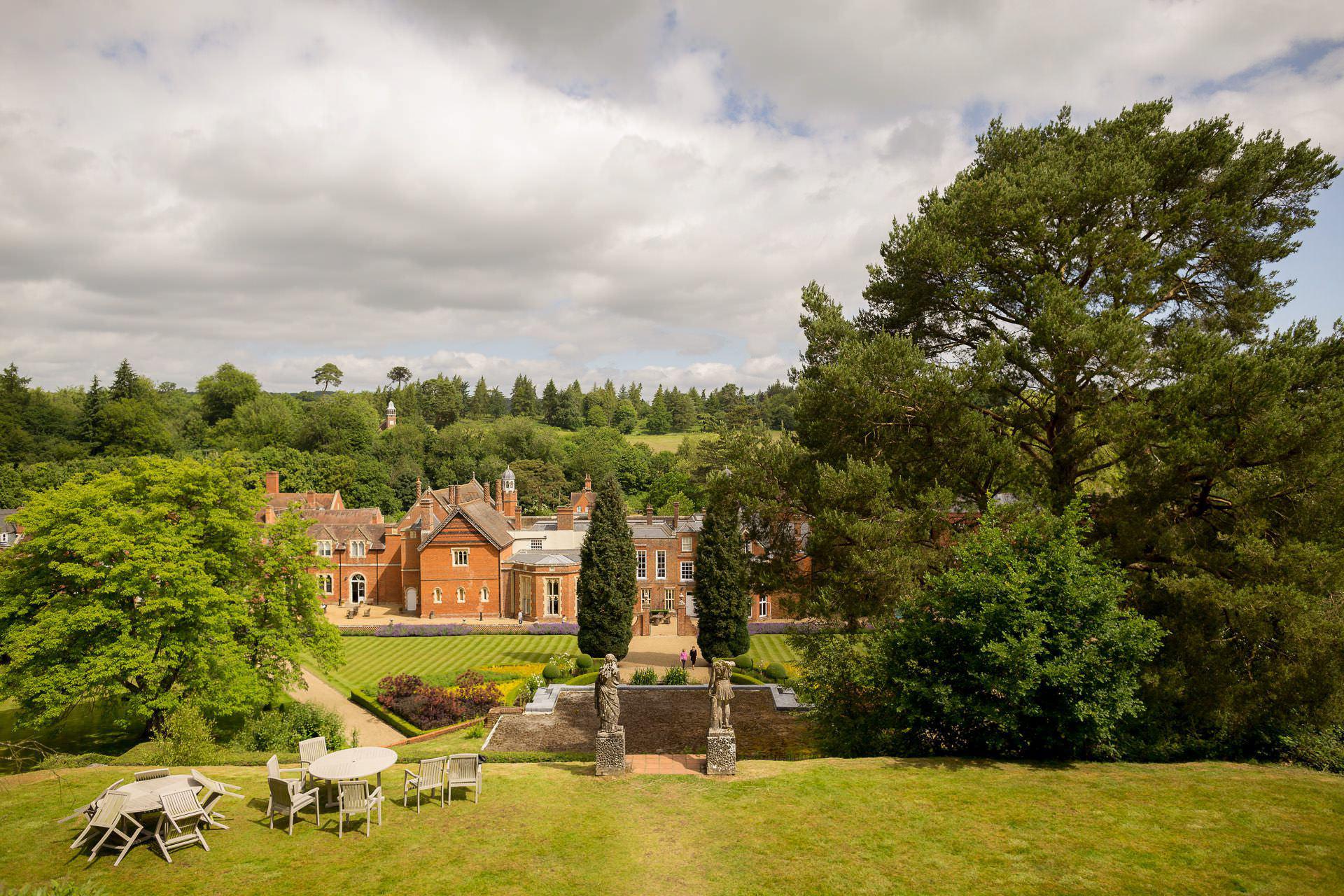 Wotton House wedding venue panorama
