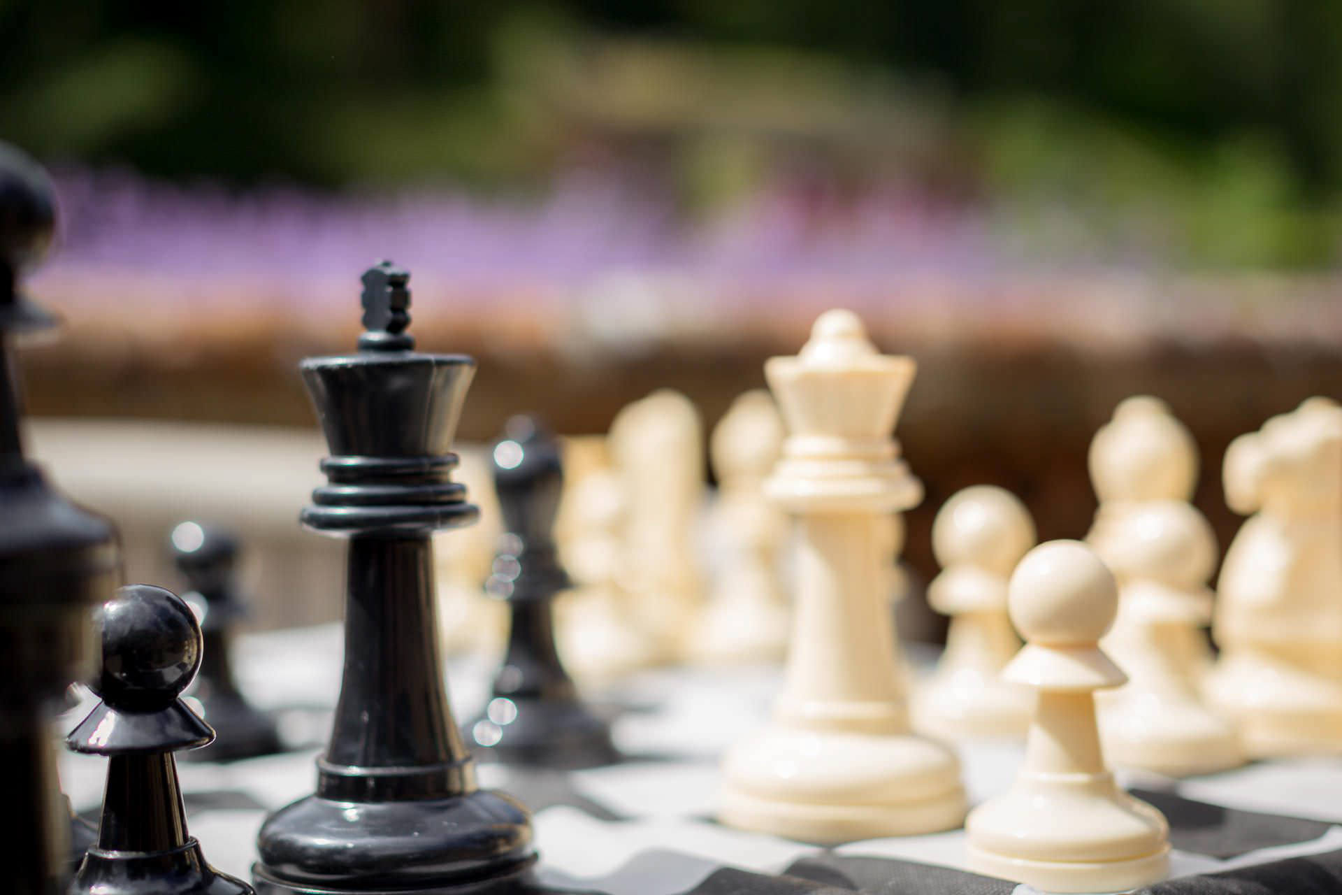 Wotton House wedding chess