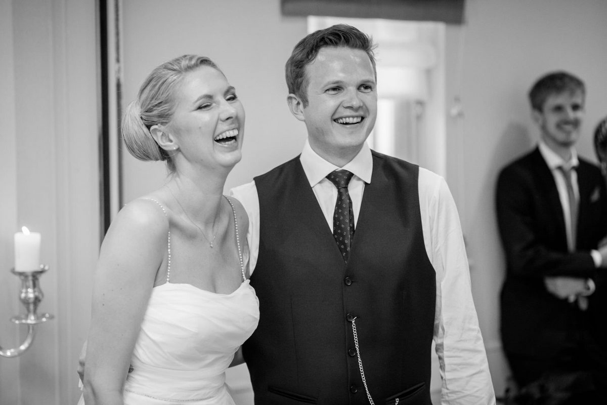 Wotton House wedding married couple smiling