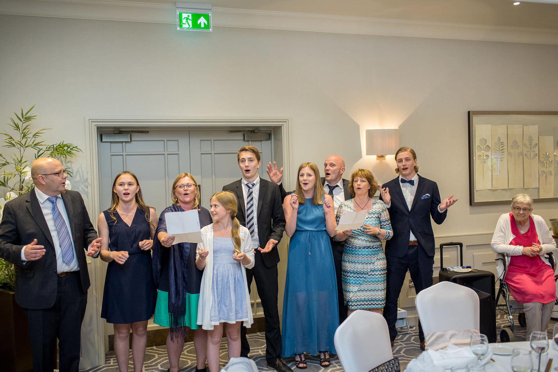 Wotton House wedding guests smiling