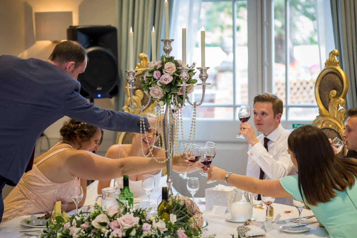 Wotton House wedding toast on the top table