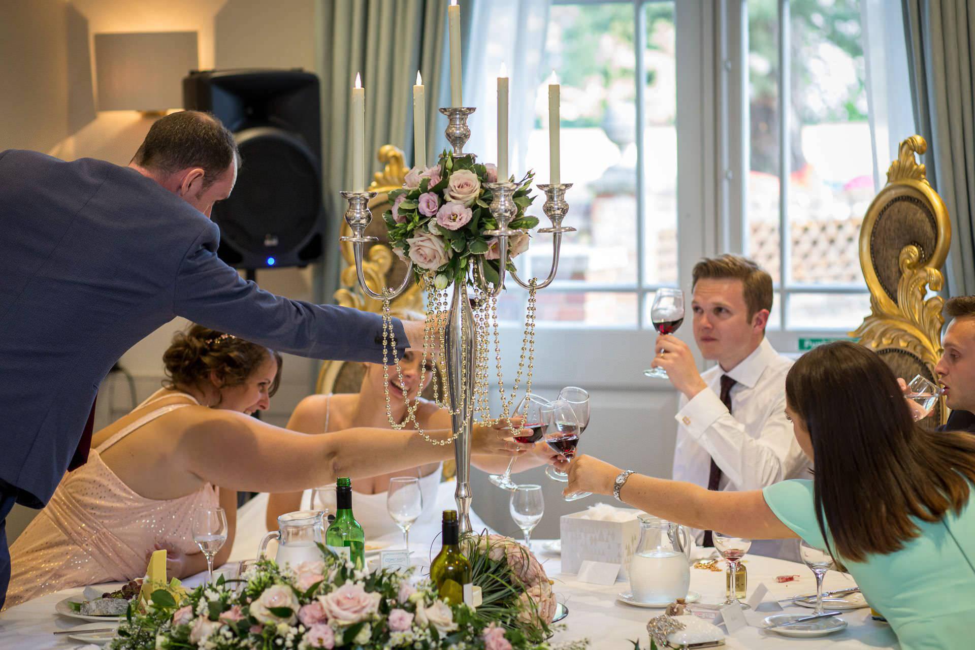 Wotton House wedding toast on the top table