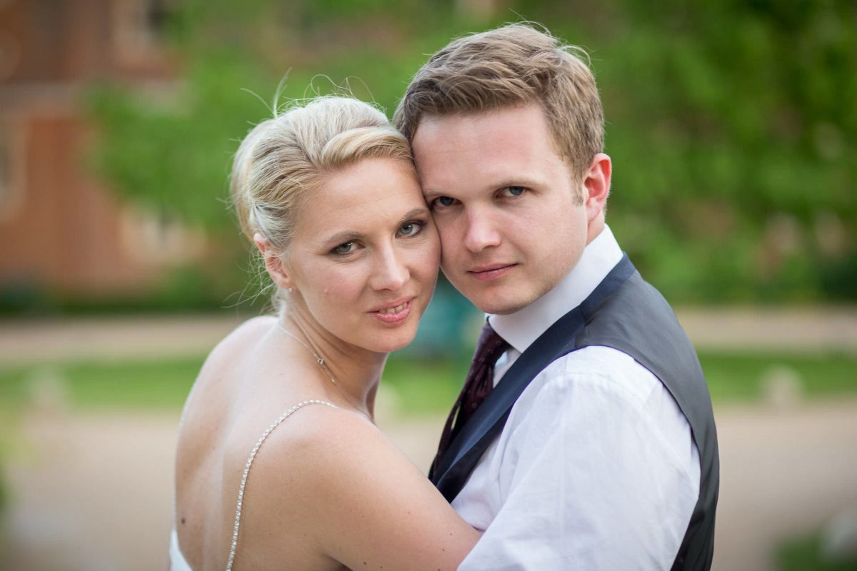 Wotton House wedding couple portrait