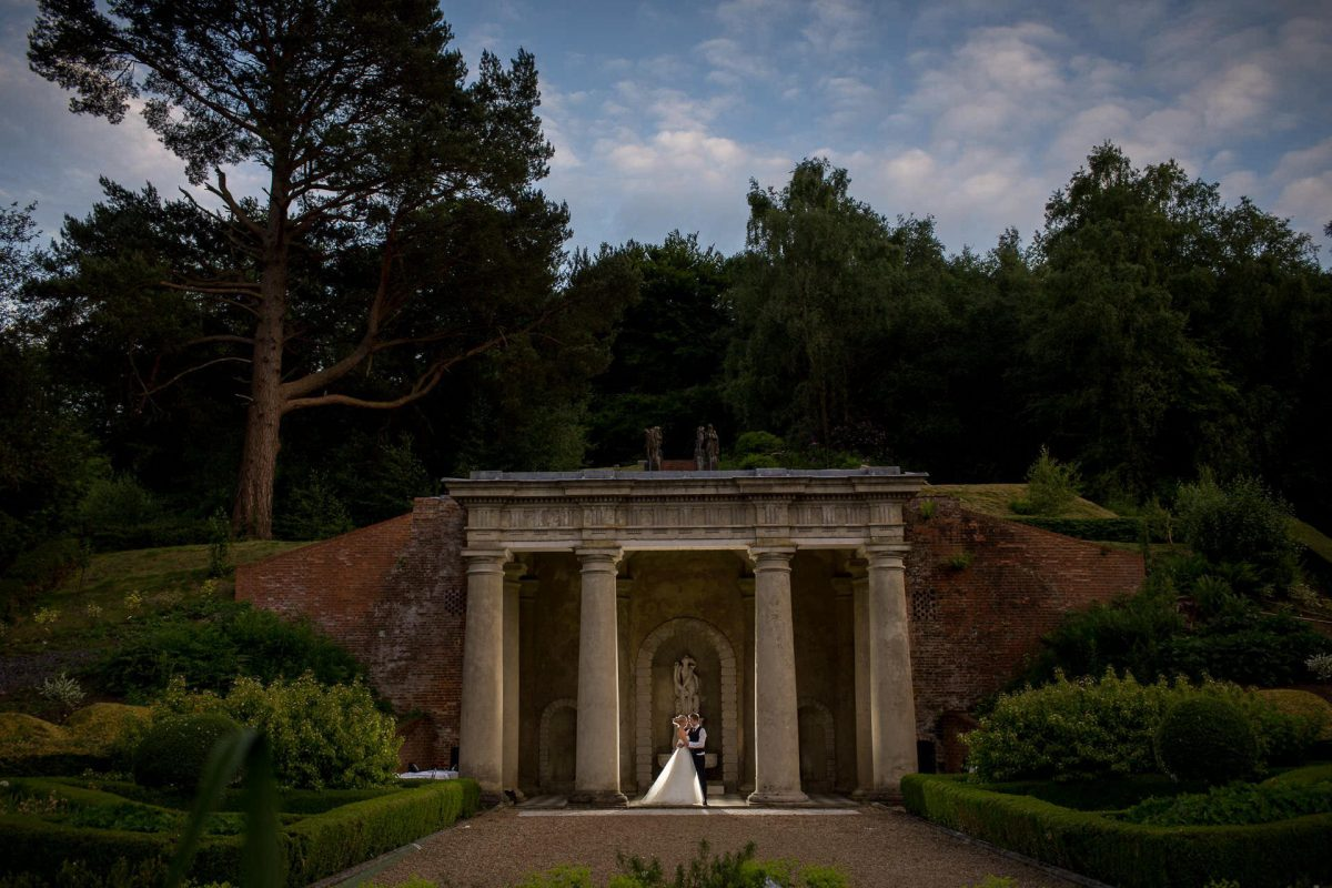 Wotton House wedding blue hour photo shoot.