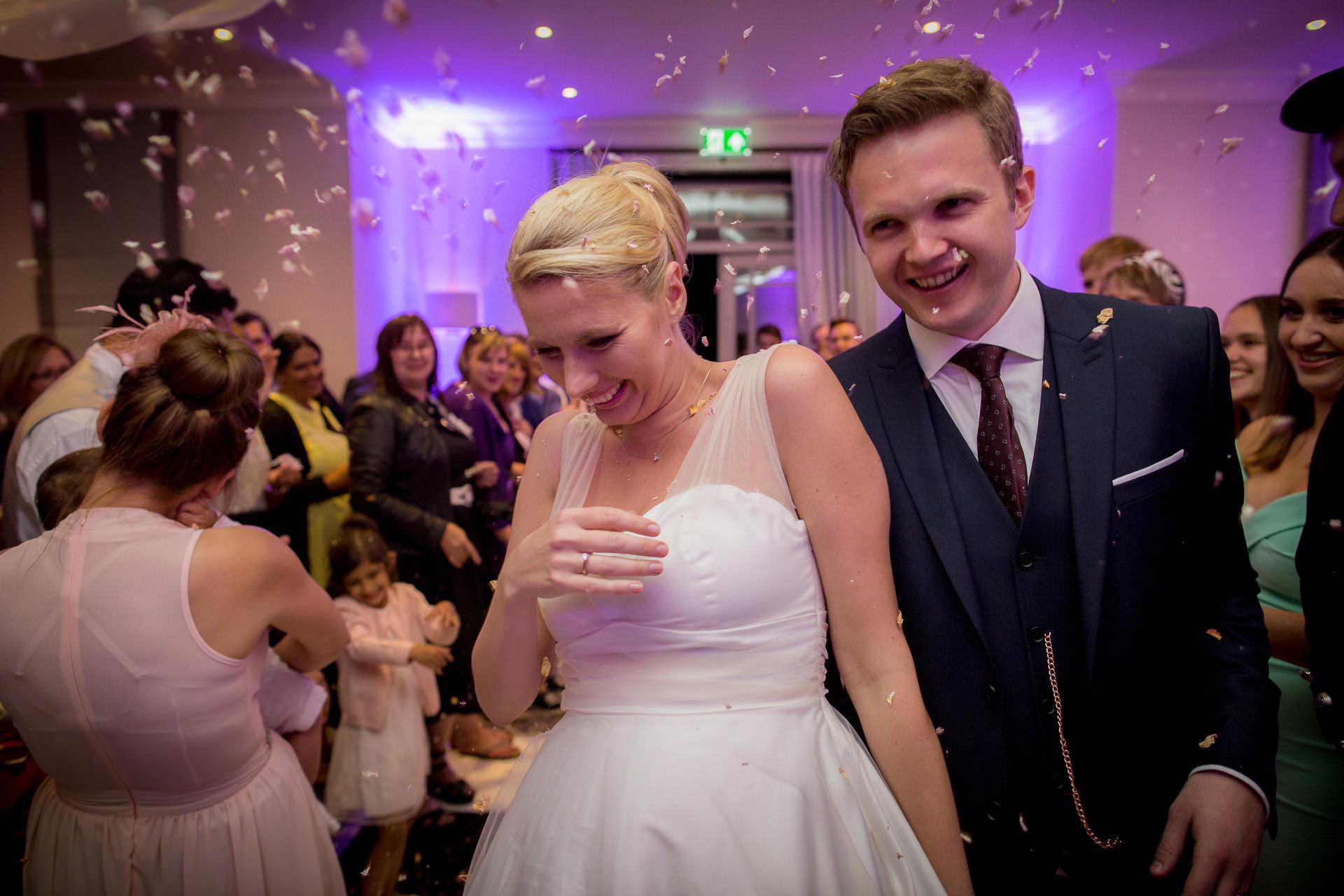 Wotton House wedding confetti shower
