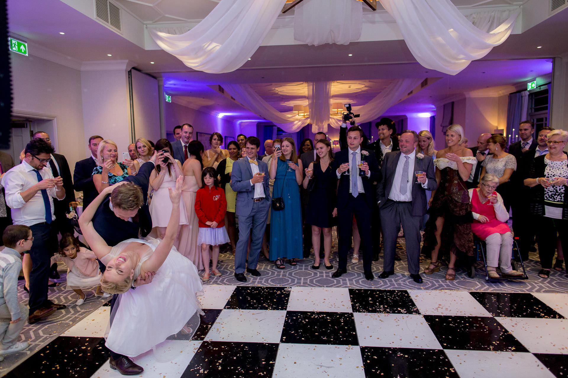 Wotton House wedding dancing deep