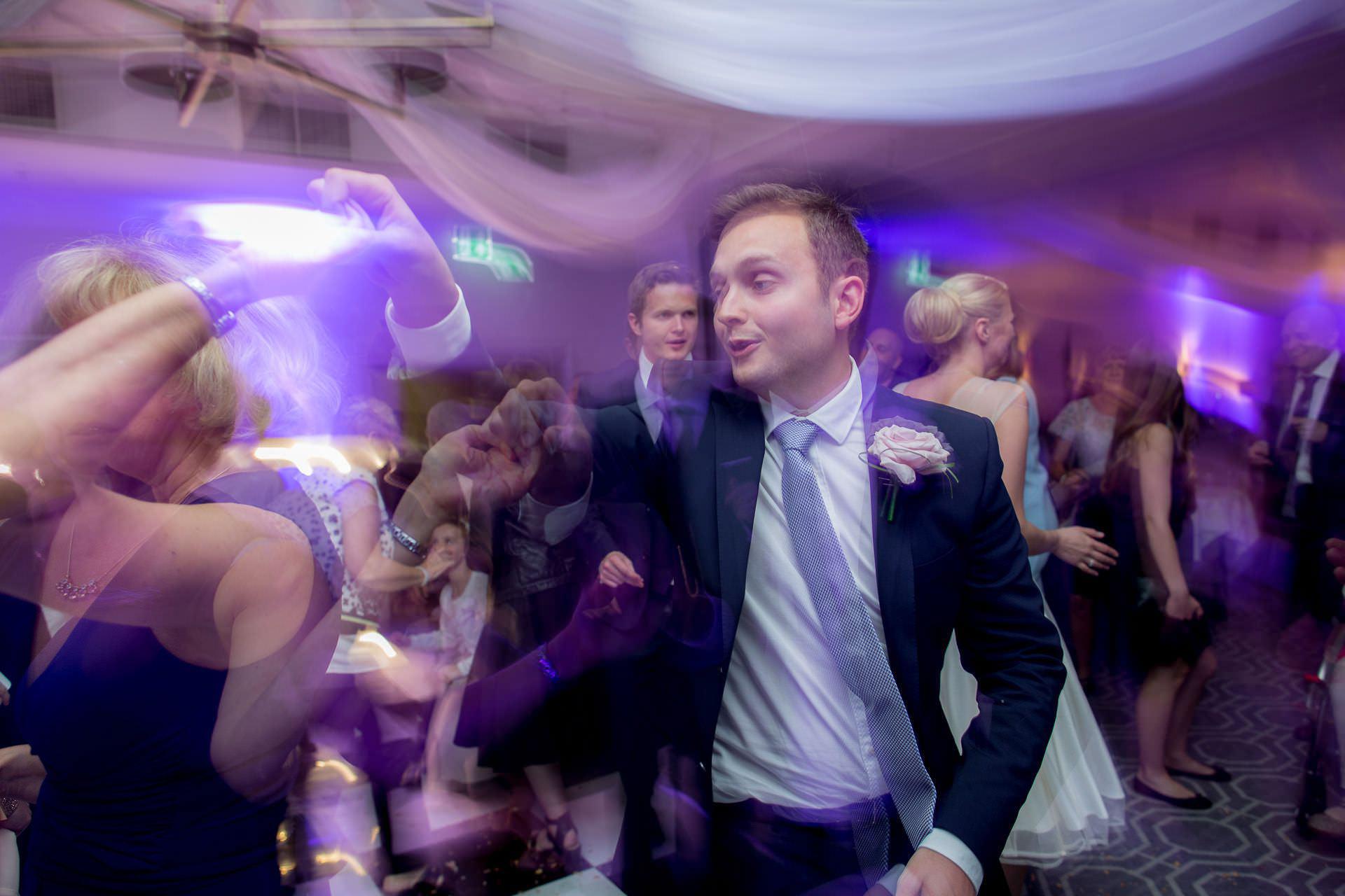 Wotton House wedding brother of the groom dancing