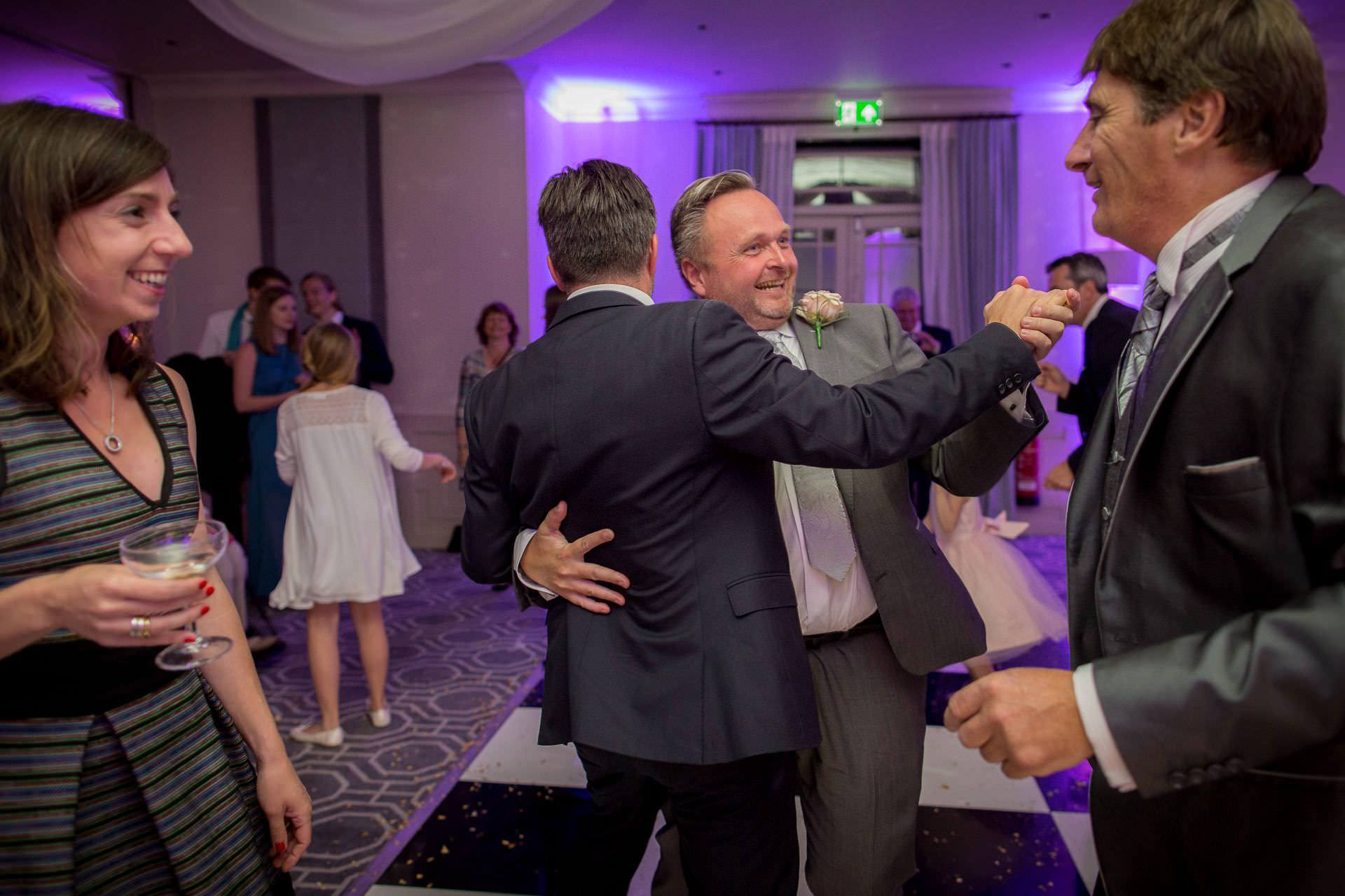 Wotton House wedding father of the groom dancing