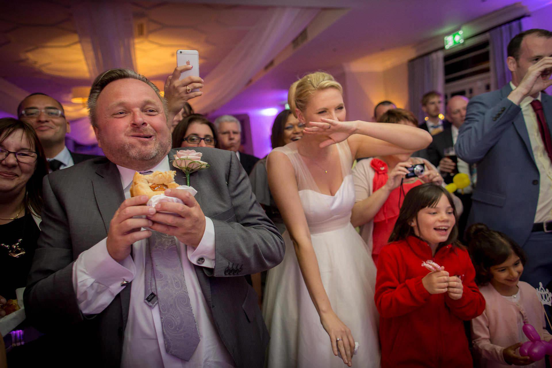 Wotton House wedding geusts watch performance